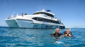 Silverswift Dive & Snorkel Boat Cairns Australia.